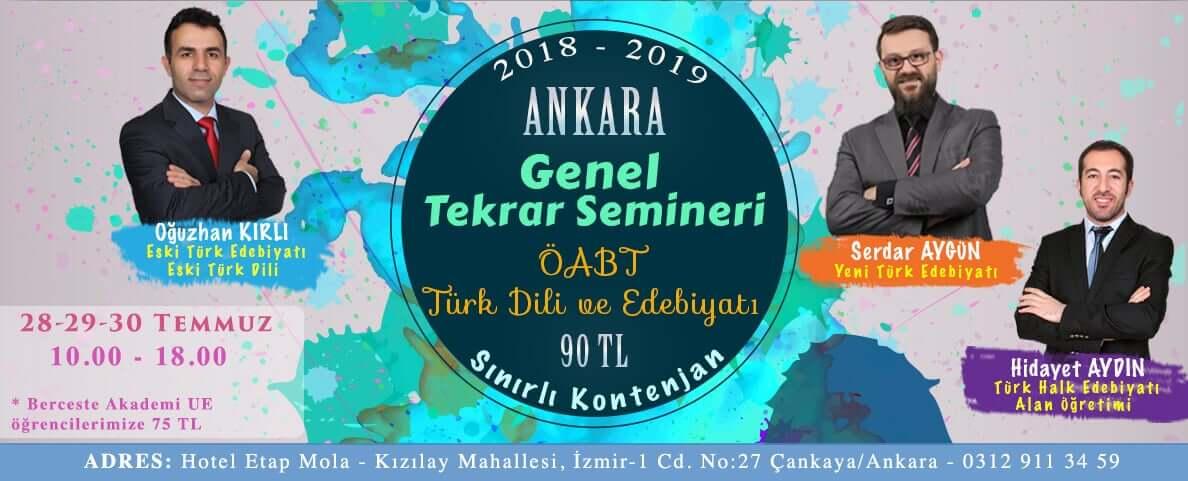 Ankara Edebiyat Tekrar